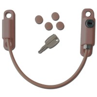 Asec Lockable Cable Window Restrictor - Brown