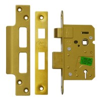 Asec 3 Lever Sashlock 64mm Polished brass