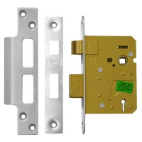 Asec 3 Lever Sashlock 76mm Stainless steel