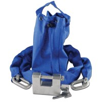 Asec Straight Shackle Padlock and Chain Set with Carry Bag