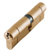 Asec BS Kitemarked Snap Resistant Euro Double Cylinder 45/50 95mm Brass