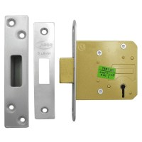 Asec 5 Lever Dead lock 76mm Stainless Steel