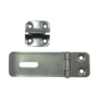 Asec Pressed Steel Safety Hasp and Staple 75mm Galvanised