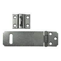 Asec Pressed Steel Safety Hasp and Staple 115mm Galvanised