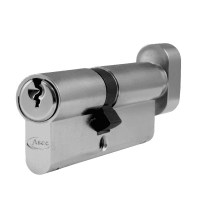 Asec 6 Pin Euro Key and Turn Cylinder Master Keyed 80mm 35/45 Nickel