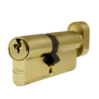 Asec 6 Pin Euro Key and Turn Cylinder Master Keyed 80mm 35/45 Brass