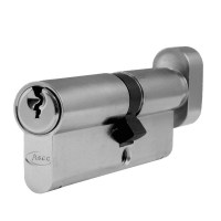 Asec 6 Pin Euro Key and Turn Cylinder Master Keyed 85mm 50/35 Nickel