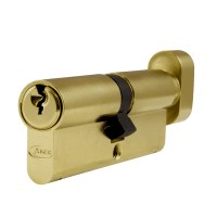 Asec 6 Pin Euro Key and Turn Cylinder Master Keyed 85mm 45/40 Brass