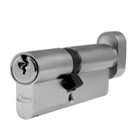 Asec 6 Pin Euro Key and Turn Cylinder Master Keyed 90mm 40/50 Nickel