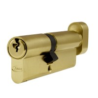 Asec 6 Pin Euro Key and Turn Cylinder Master Keyed 90mm 40/50 Brass