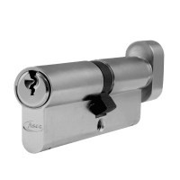 Asec 6 Pin Euro Key and Turn Cylinder Master Keyed 90mm 50/40 Nickel