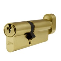 Asec 6 Pin Euro Key and Turn Cylinder Master Keyed 95mm 40/55 Brass