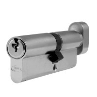 Asec 6 Pin Euro Key and Turn Cylinder Master Keyed 95mm 55/40 Nickel