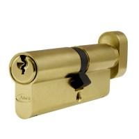 Asec 6 Pin Euro Key and Turn Cylinder Master Keyed 95mm 55/40 Brass