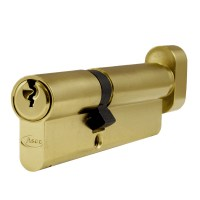 Asec 6 Pin Euro Key and Turn Cylinder Master Keyed 100mm 40/60 Brass