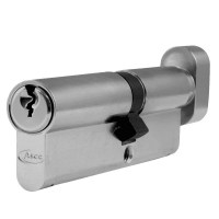 Asec 6 Pin Euro Key and Turn Cylinder Master Keyed 100mm 60/40 Nickel