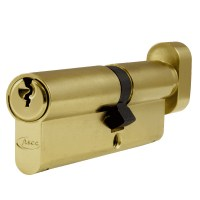 Asec 6 Pin Euro Key and Turn Cylinder Master Keyed 100mm 60/40 Brass