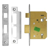Asec Bathroom lock 64mm Stainless steel