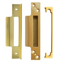 Asec Sashlock Rebate Kit 13mm Polished Brass