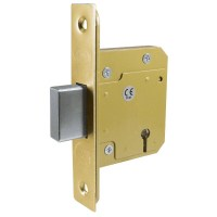Asec 5 Lever British Standard BS 3621:2007 Dead Lock 76mm Polished Brass