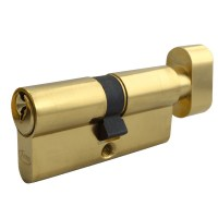Asec 5 Pin Key and Turn Euro Cylinder 60mm 30/30 Nickel Plated