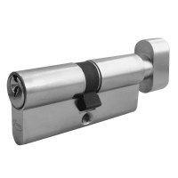 Asec 5 Pin Key and Turn Euro Cylinder 70mm 35/35 Nickel Plated