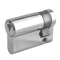 Asec 6 Pin Euro Half Single Cylinder Master Keyed 45mm 35/10 Nickel Plate