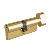 Asec 6 Pin Euro Key and Turn Cylinder Master Keyed 70mm 35/35 Brass