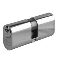Asec 6 Pin Oval Double Cylinder Master Keyed 70mm 35/35 Nickel