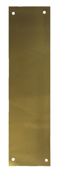 Asec Victorian Door Finger Plate 75 x 300mm Polished Brass