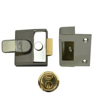 Asec Deadlocking Nightlatch 60mm Brass Case Brass Cylinder