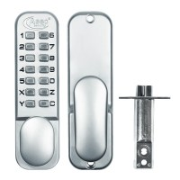 Asec Digital Door Lock with Optional Holdback Satin Chrome