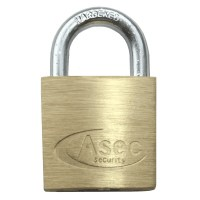 Asec Standard Shackle 4 Pin Brass Padlock Keyed Alike 30mm Cut I