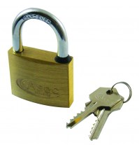 Asec Master Keyed CC 5 Pin Brass Padlock 50mm