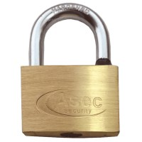 Asec Standard Shackle 5 Pin Brass Padlock Keyed Alike 60mm