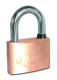 Asec Master Keyed CC 5 Pin Brass Padlock 60mm