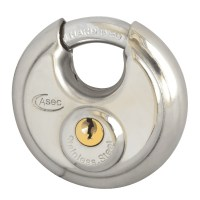 Asec 5 Pin Disc Discus Padlock 70mm