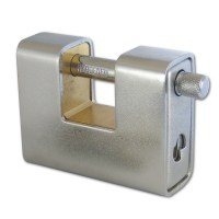 Asec AS 770 Straight Shackle Padlock Stainless Steel 80mm