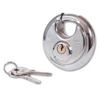 Asec 5 Pin Disc Discus Padlock Keyed Alike 70mm