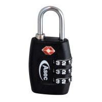 Asec TSA Combination Travel Padlock