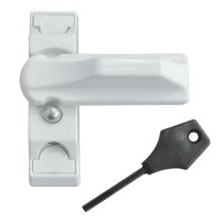 Asec Sash Stopper Locking UPVC Window Lock White