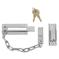 Asec Locking Door Chain Chrome Plated