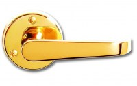 Asec Victorian Door Furniture Lever on Rose Straight Handle Brass