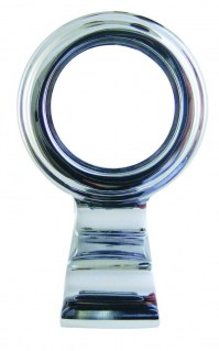 Asec Victorian Cylinder Pull Chrome Plated