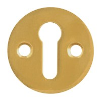 Asec Front Fix Escutcheon 32mm Mortice Key Polished Brass