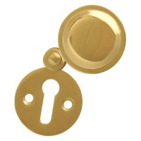 Asec Front Fix Escutcheon 32mm Mortice Key with Covered Polished Brass