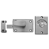 Asec Bathroom Door Indicator Bolt Satin Stainless Steel