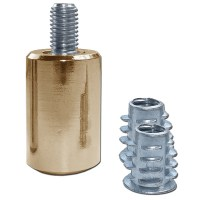 Asec Sash Window Stop Single Brass