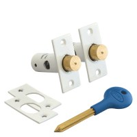 Asec Window Bolt Pair White