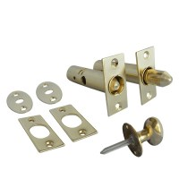 Asec Mortice Door Bolt and Turn Knob Electro Brass